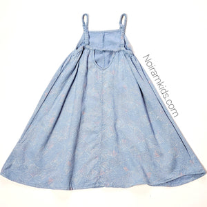 Old Navy Patterned Chambray Girls Dress 3T Used View 3