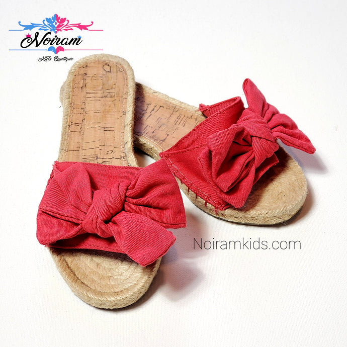 Disney Red Espadrille Girls Sandals Size 1 Used View 1