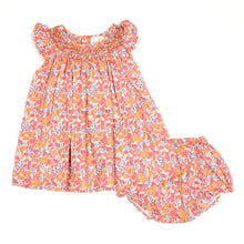 Load image into Gallery viewer, Peek Kids Girls Floral Dress Bloomer Set 3M Used View 1
