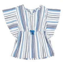 Load image into Gallery viewer, Baby Gap Girls Blue Striped Tunic Top 3T Used View 1
