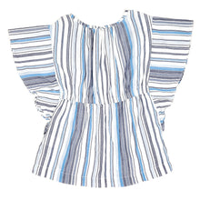 Load image into Gallery viewer, Baby Gap Girls Blue Striped Tunic Top 3T Used View 2
