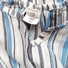 Load image into Gallery viewer, Baby Gap Girls Blue Striped Tunic Top 3T Used View 3