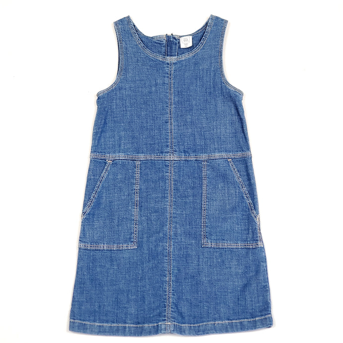 Gap Girls Denim Overall Dress Size 5 Used View 1