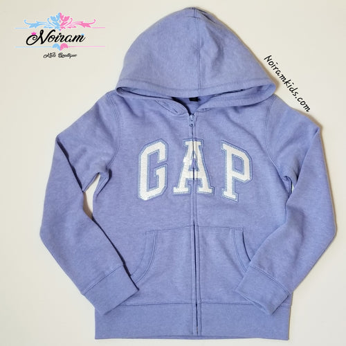 NWT Gap Girls Sequin Logo Hoodie Size 12 XL Purple