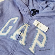Load image into Gallery viewer, NWT Gap Girls Sequin Logo Hoodie Size 12 XL Purple View 2