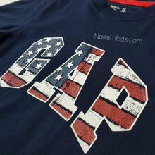 Load image into Gallery viewer, Gap Kids Distressed Patriotic Logo Shirt Used View 2