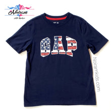 Load image into Gallery viewer, Gap Kids Distressed Patriotic Logo Shirt Used