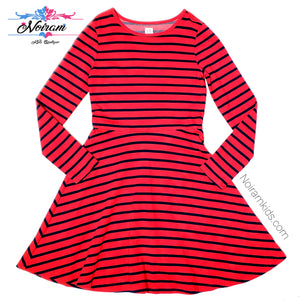 Gap Kids Red Blue Striped Girls Dress Size 12 Used View 1