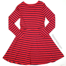 Load image into Gallery viewer, Gap Kids Red Blue Striped Girls Dress Size 12 Used View 2