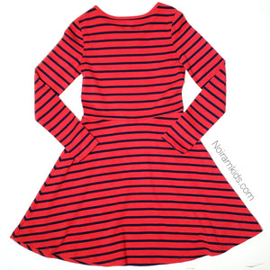 Gap Kids Red Blue Striped Girls Dress Size 12 Used View 2