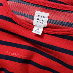 Gap Kids Red Blue Striped Girls Dress Size 12 Used View 3