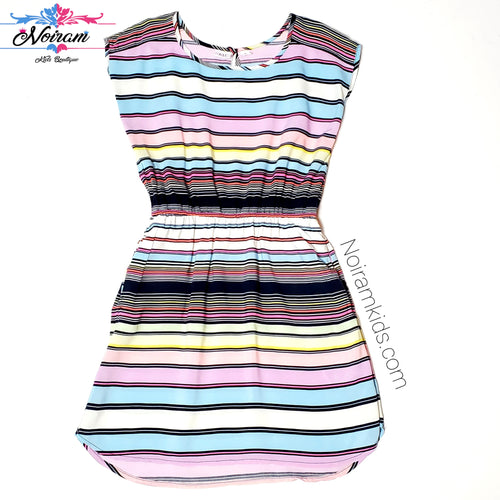 Gap Kids Multicolor Striped Girls Dress Size 8R Used View 1