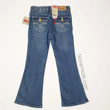 Load image into Gallery viewer, Levis Glitter Flare Girls Jeans Size 5R NWT View 2