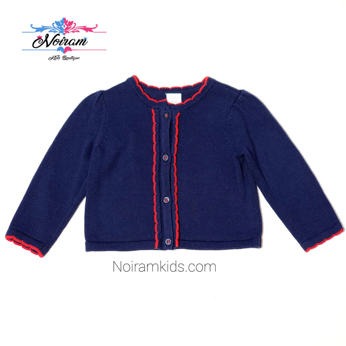 Gymboree Navy Blue Girls Cardigan Sweater Used View 1
