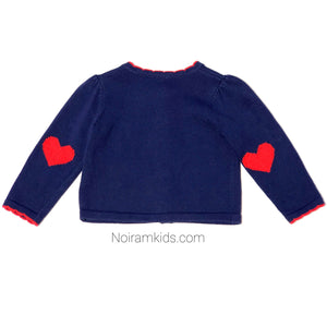 Gymboree Navy Blue Girls Cardigan Sweater Used View 2