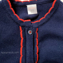 Load image into Gallery viewer, Gymboree Navy Blue Girls Cardigan Sweater Used View 3