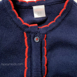 Gymboree Navy Blue Girls Cardigan Sweater Used View 3