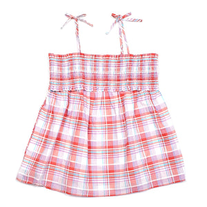 Cat Jack Girls Smocked Plaid Top Size 10 NWT View 1