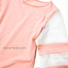 Load image into Gallery viewer, Art Class Pink Mesh Sleeve Girls Shirt Used View 2