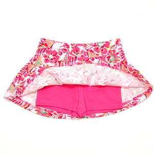 Childrens Place Girls Skort 2T Pink Floral Print Used View 2