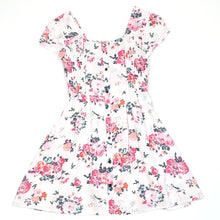 Load image into Gallery viewer, Mudd Girls White Floral Dress Size 7 Used View 1