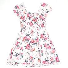 Load image into Gallery viewer, Mudd Girls White Floral Dress Size 7 Used View 2