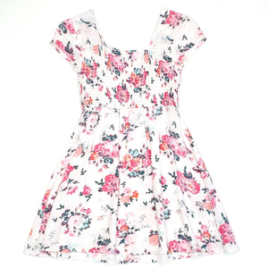 Mudd Girls White Floral Dress Size 7 Used View 2