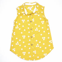 Load image into Gallery viewer, Cat Jack Girls Yellow Floral Top Size 6 Used View 1
