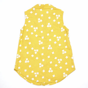 Cat Jack Girls Yellow Floral Top Size 6 Used View 2