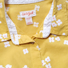 Load image into Gallery viewer, Cat Jack Girls Yellow Floral Top Size 6 Used View 3