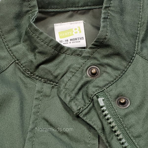 Crazy 8 Olive Green Girls Jacket 12M Used View 4