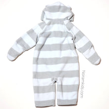 Load image into Gallery viewer, Old Navy Grey Blue Boys Fleece Snowsuit 12M Used View 2