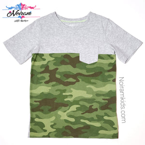 Carters Grey Camo Boys Shirt Size 8 Used View 1