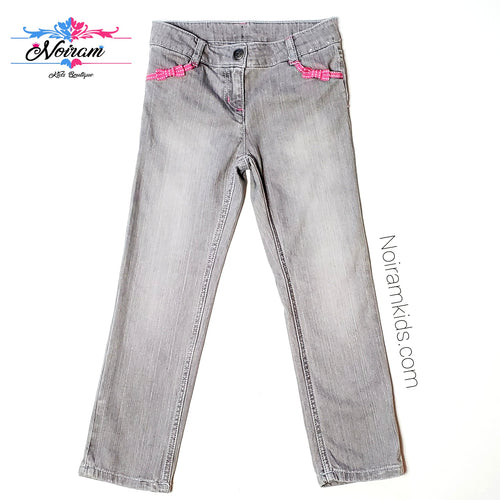 Gymboree Grey Faded Wash Girls Jeans Size 6 Used View 1