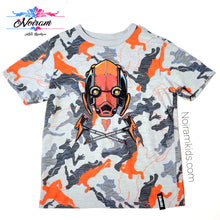 Load image into Gallery viewer, Fortnite Grey Orange Boys Graphic Shirt Used View 1