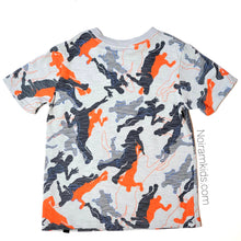 Load image into Gallery viewer, Fortnite Grey Orange Boys Graphic Shirt Used View 2