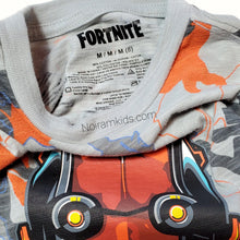 Load image into Gallery viewer, Fortnite Grey Orange Boys Graphic Shirt Used View 3