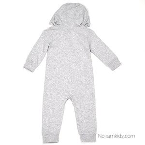 Carters Grey Hooded Boys Jumpsuit 12M Used View 2
