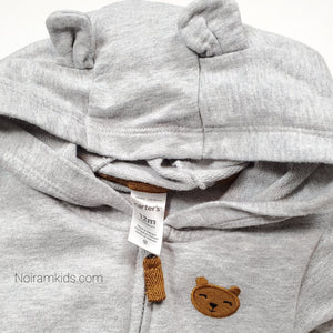 Carters Grey Hooded Boys Jumpsuit 12M Used View 3