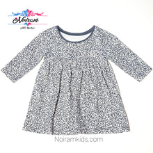 Load image into Gallery viewer, Old Navy Grey White Patterned Girls Dress Used View 1