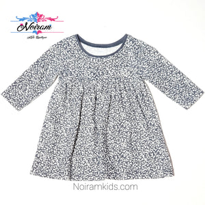 Old Navy Grey White Patterned Girls Dress Used View 1