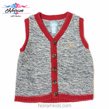 Load image into Gallery viewer, Gap Red Grey Boys Sweater Vest Used View 1