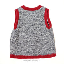 Load image into Gallery viewer, Gap Red Grey Boys Sweater Vest Used View 2