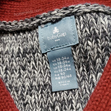 Load image into Gallery viewer, Gap Red Grey Boys Sweater Vest Used View 3