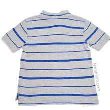 Load image into Gallery viewer, Gap Grey Striped Boys Polo Shirt Size 6 Used View 2