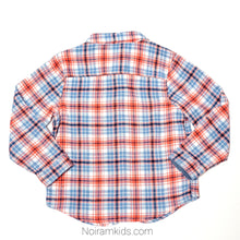 Load image into Gallery viewer, Gymboree Blue Orange Boys Flannel Shirt 3T Used View 2
