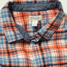 Load image into Gallery viewer, Gymboree Blue Orange Boys Flannel Shirt 3T Used View 3