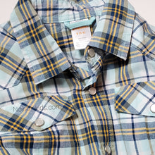 Load image into Gallery viewer, Gymboree Boys Blue Plaid Shirt Used View 2