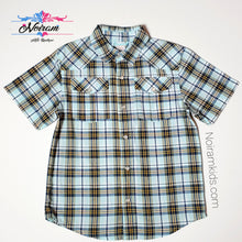 Load image into Gallery viewer, Gymboree Boys Blue Plaid Shirt Used View 1