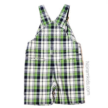 Load image into Gallery viewer, Gymboree Boys Plaid Overall Shorts 2T Used View 3